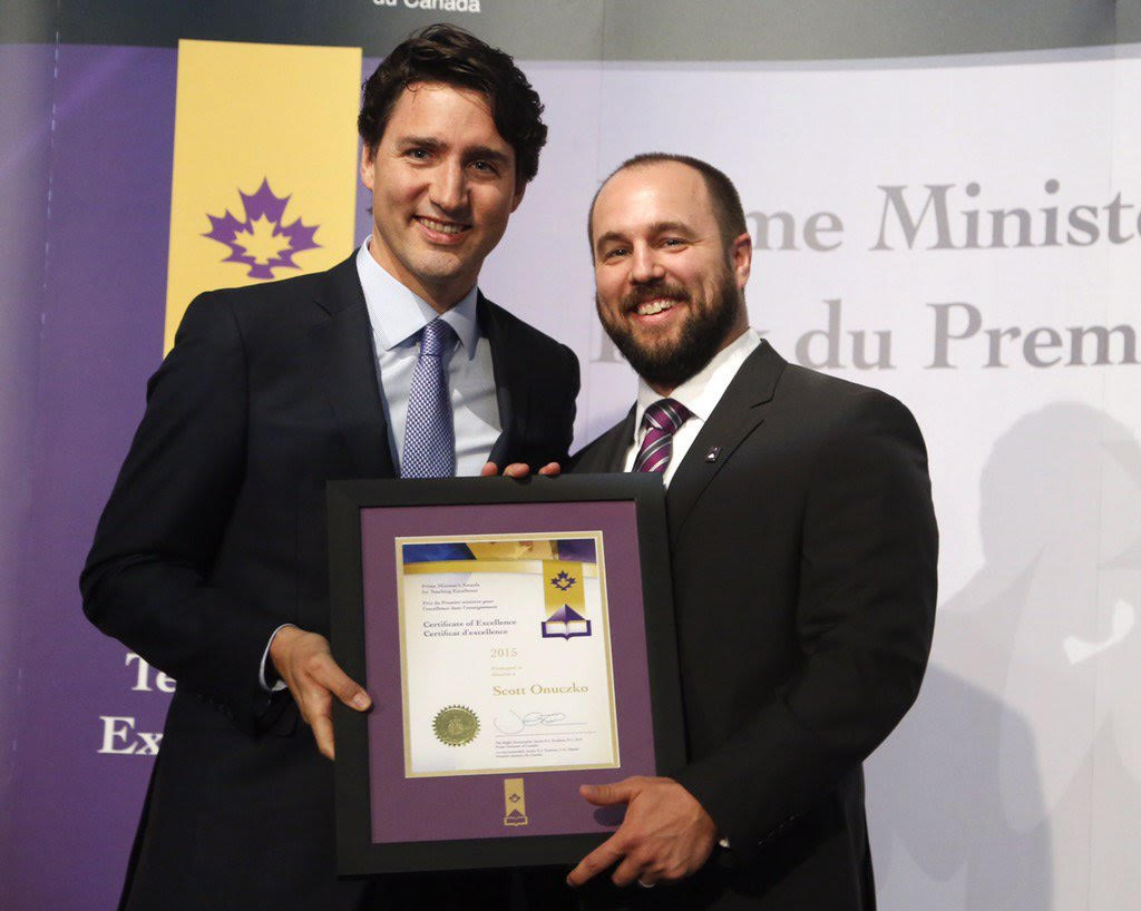 Educational technology, prime minister's teaching award, Trudeau,